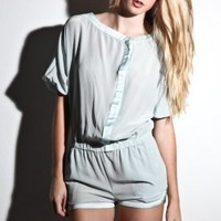Women's Cidney Short Jumper (Grey) | Fremont | 80's Purple