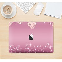 """The Pink Sparkly Chandelier Hearts Skin Kit for the 12"""" Apple MacBook"""