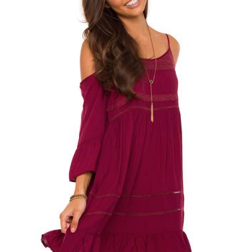 Spin Me Round Dress in Wine