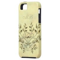 Golden leaves on branches Phone Case