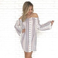 Abito A Turni Off Shoulder Dress