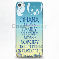 Ohana Means Family Lilo And Stitch iPod Touch 5 Case | casefantasy