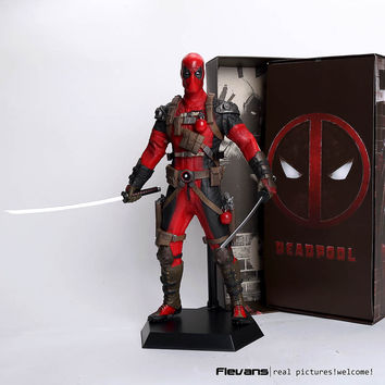 "Crazy Toys Deadpool PVC Action Figure Collectible Model Toy 12"" 30cm red / sliver"