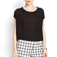 FOREVER 21 Faux Leather Grid Shorts