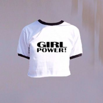 GIRL POWER RINGER TEE | Shop Simoney | Online bestellen