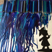 Melted Crayon Art Silhouette