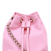 Spare Change Pink Mini Bucket Bag
