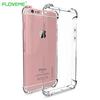FLOVEME Cover for iPhone 7 6 6s Plus Case Silicon Soft TPU Crystal Clear Gel Fundas for iPhone 6 6S 7 Plus Case Coque Capa