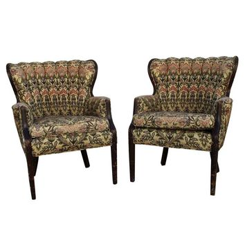 Pre-owned 1940s Shabby Chic Channel Back Chairs