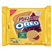 Oreo PB&J Limited Edition Peanut Butter & Jelly Sandwich Cookies, 10.7 oz package - Walmart.com