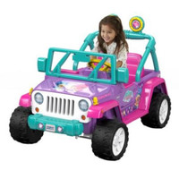 Shimmer & Shine Jeep Wrangler 12-Volt ATV Battery-Powered Operated Ride-On Car with Radio