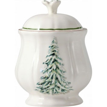 Gien Filet Noel Sugar Bowl