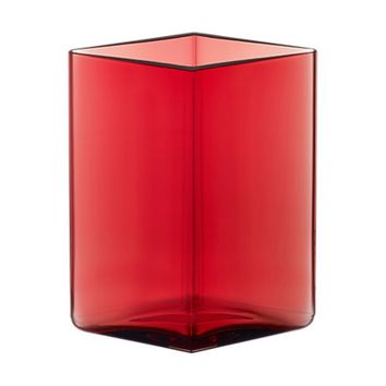 Ruutu Vase Medium in Cranberry - Pop! Gift Boutique