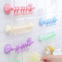 1 Pcs 6 Hooks Hat Towel Bars Clothes Over Door Bathroom Hanger Hanging Rack Holder Bathroom Hooks