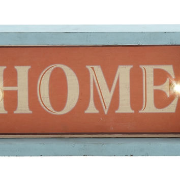 "Simply Attractive Wood Led Wall Home Sign 12""W, 6""H"