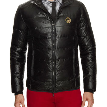 Love Moschino Men's Nylon Quilted Puffer Coat - Black -