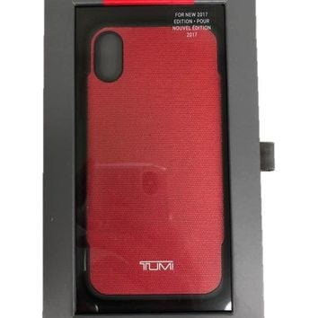 Tumi Coated Canvas Co-Mold Case For iPhone X