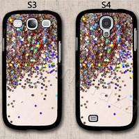 Sparkle Glitter Samsung Galaxy S3 Case, Samsung Galaxy S4 Case, Hard Plastic Phone Cases, Please Choose Case Model