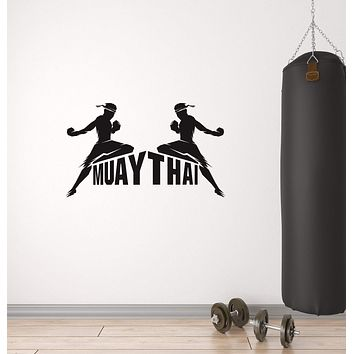 Vinyl Wall Decal Muay Thai Boxing Fight Club Fighting MMA Sport Stickers Mural (ig5855)