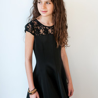 Black Neoprene Dress - David Charles Childrens Wear