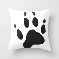 Animal Paw Print - Black Throw Pillow by Indulge My Heart