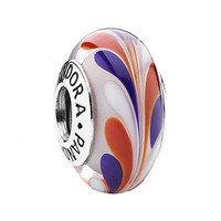 PANDORA 'All American' Murano Glass Charm