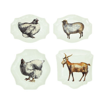 Farm Fresh Stoneware Plate - Set of 4