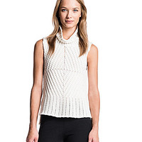 1. STATE Funnelneck Sleeveless Sweater - Vanilla