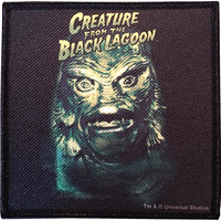 Creature From The Black Lagoon Men's Creature Face Woven Patch Black