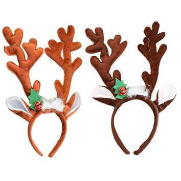 Christmas Antler Headdress Christmas Wreath for Children Gift