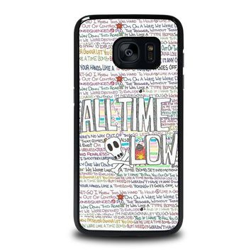 all time low writting samsung galaxy s7 edge case cover  number 1