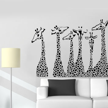 Vinyl Wall Decal Giraffes Animals House Interior Room Stickers (ig3832)