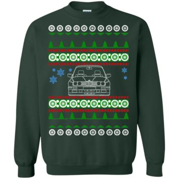 BMW E30 M3 front view Ugly Christmas Sweater