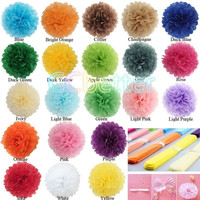 "5 Pcs 6"" 8""10""12""14"" DIY Tissue Paper Pom Poms Flower Ball For Party Wedding Decoration Festival Party Flower Pompom(21 color optional) = 1946817348"
