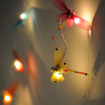 20 x dragonfly string light handmade decoration home living furniture light patio balcony bedroom