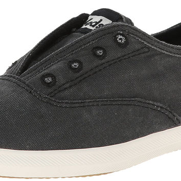 Keds Women's Chillax Washed Laceless Slip-On Sneaker Charcoal 8 B(M) US '