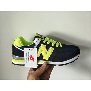 """New Balance 574"" Sport Casual Unisex N Words Multicolor Retro Sneakers Couple Running Shoes"