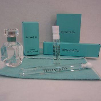 Tiffany & Co. EDP 4pc Lot Miniature Large Vial & Vial w Card Women's Perfume NIB