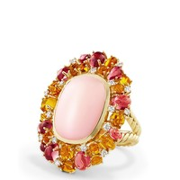 David YurmanMustique Statement Ring with Pink Opal, Citrine, Pink Tourmaline and Diamonds in 18K Yellow Gold