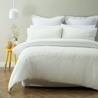 Nichola Cream Embellished Quilt Cover Set by Phase 2