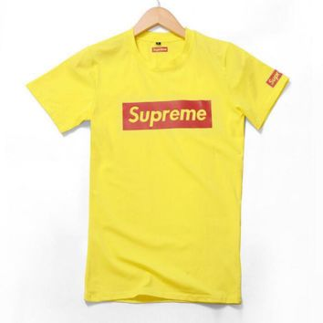 Supreme Fashion Casual Short Sleeve Round Neck Print Tee Top