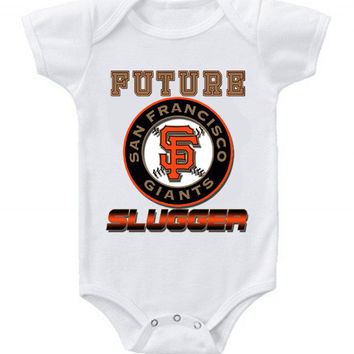 New Cute Funny Baby One Piece Bodysuit Baseball Future Slugger MLB San Francisco Giants