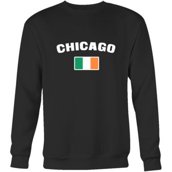 "Saint Patrick's Day - "" Chicago Parade Irish Flag "" - custom made  cool apparel."