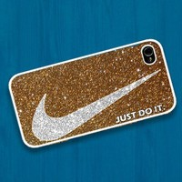 Nike just do it with luxurious glitter : Case For Iphone 4/4s ,5