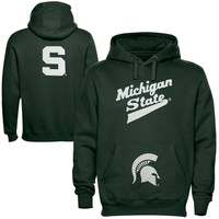 Michigan State Spartans Back To Basics Pullover Hoodie - Green