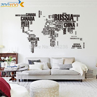 2013 New Design/XXL190*116 cm/ZooYoo Wall Sticker Map of the World for Learning Study/Art words sayings Vinyl Wall Decals