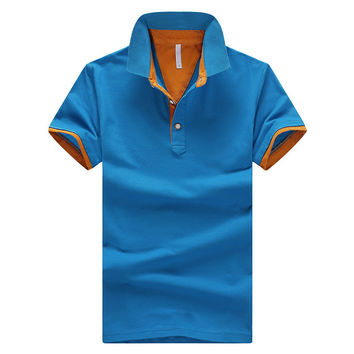 Blue/Orange 2017 Summer Mens Polo Shirt $29.98