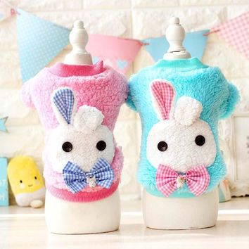 Hot Soft Warm Dog Clothes Fleece Winter Pet Coat Dogs Costume Puppy Clothing Jacket Teddy Hoodie Coat Rubbit Dec
