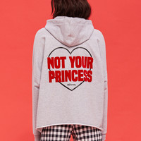 NOT YOUR PRINCESS oversized hoodie