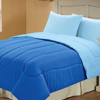 Down Alternative Reversible Comforter Marine/Blue